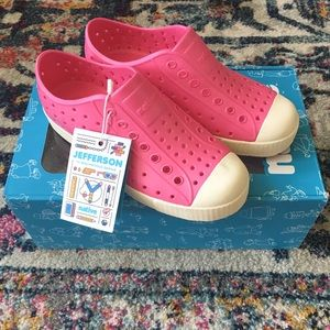 Native Shoes Jefferson NEW Hollywood Pink Size J1